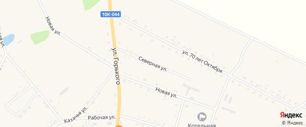 Северная улица на карте села Константиновки с номерами домов