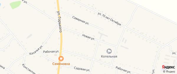 Новая улица на карте села Константиновки с номерами домов