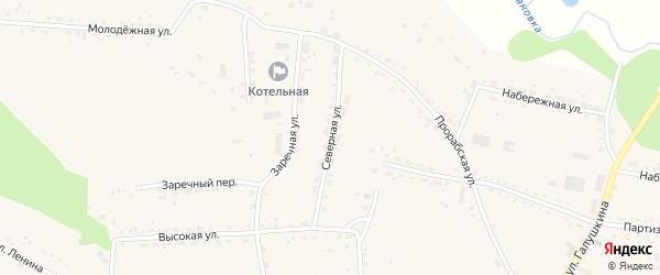 Северная улица на карте села Ивановки с номерами домов