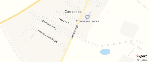 Зеленая улица на карте Солнечного села с номерами домов