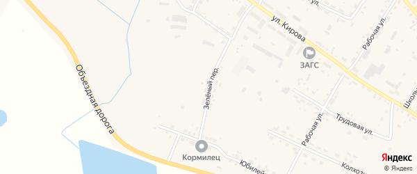 Зеленый переулок на карте села Ивановки с номерами домов