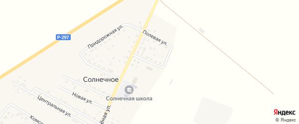 Восточный переулок на карте Солнечного села с номерами домов