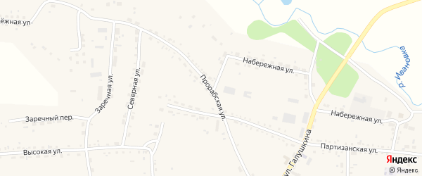 Прорабская улица на карте села Ивановки с номерами домов