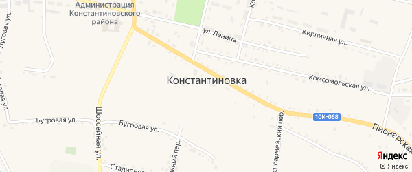 Южная улица на карте села Константиновки с номерами домов