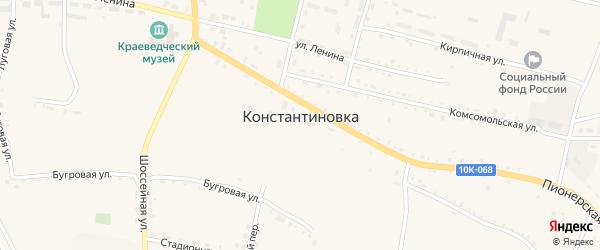 Партизанская улица на карте села Константиновки с номерами домов
