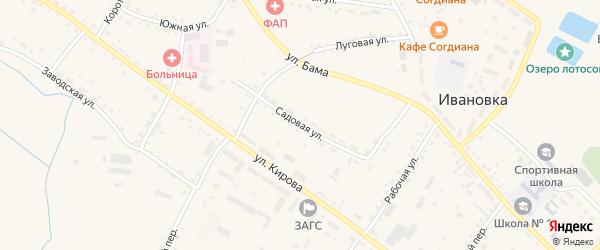 Садовая улица на карте села Ивановки с номерами домов