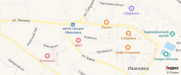 Новая улица на карте села Ивановки с номерами домов