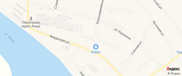 Октябрьская улица на карте села Константиновки с номерами домов