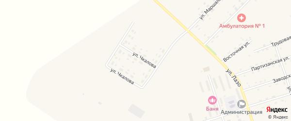 Улица Чкалова на карте села Среднебелой с номерами домов