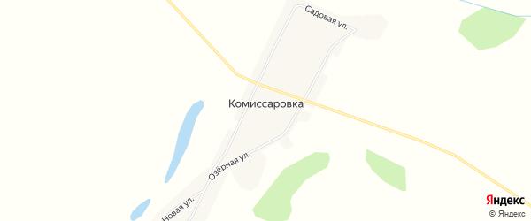 Карта села Комиссаровки в Амурской области с улицами и номерами домов