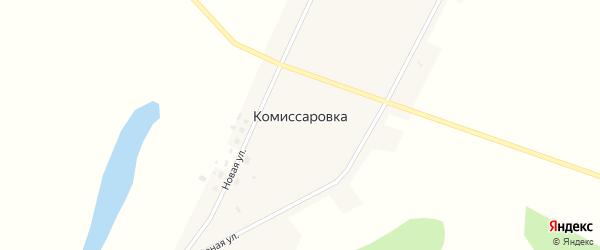 Озерная улица на карте села Комиссаровки с номерами домов