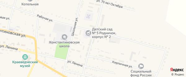 Коммунальная улица на карте села Константиновки с номерами домов