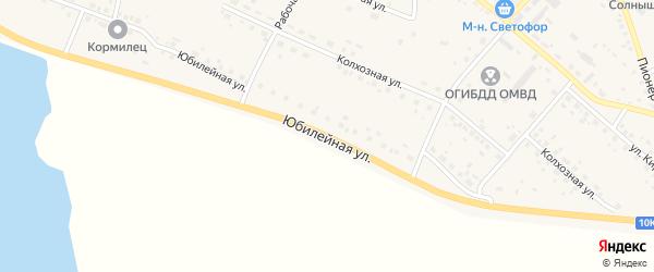 Юбилейная улица на карте села Ивановки с номерами домов
