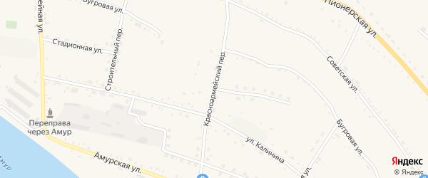 Красноармейский переулок на карте села Константиновки с номерами домов