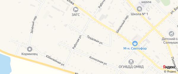 Трудовая улица на карте села Ивановки с номерами домов