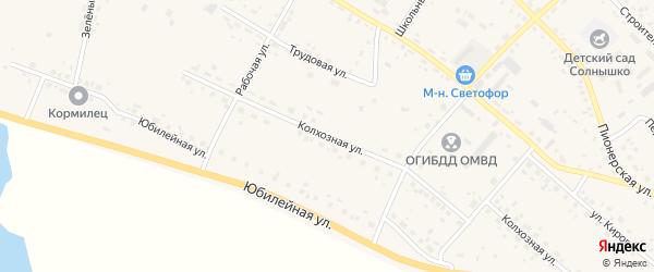Колхозная улица на карте села Ивановки с номерами домов