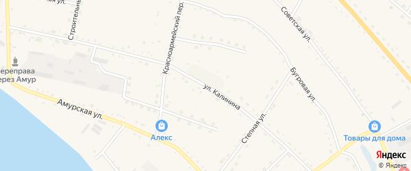 Улица Калинина на карте села Константиновки с номерами домов