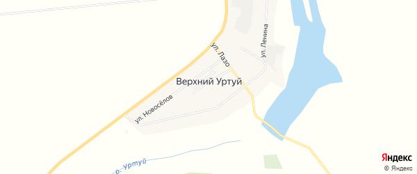 Карта села Верхнего Уртуя в Амурской области с улицами и номерами домов