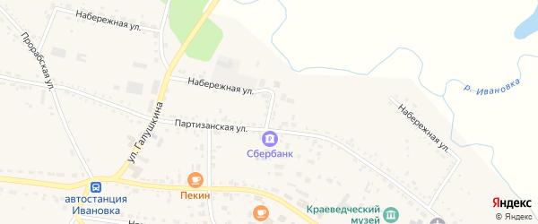 Набережный переулок на карте села Ивановки с номерами домов