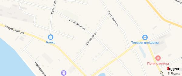 Степная улица на карте села Константиновки с номерами домов