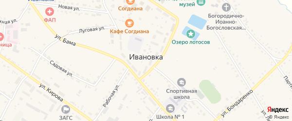 Первомайский переулок на карте села Ивановки с номерами домов