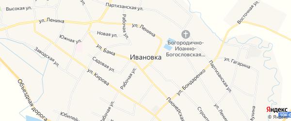 Карта села Ивановки в Амурской области с улицами и номерами домов