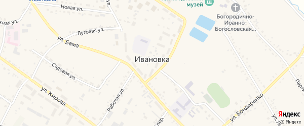 Вокзальный переулок на карте села Ивановки с номерами домов