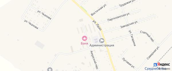 Амурская улица на карте села Среднебелой с номерами домов