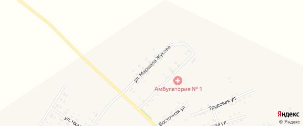 Улица Маршала Жукова на карте села Среднебелой с номерами домов