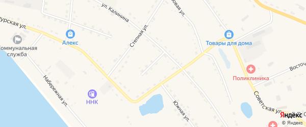 Трудовой переулок на карте села Константиновки с номерами домов