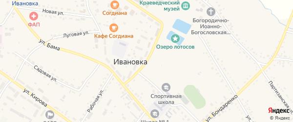 Торговая улица на карте села Ивановки с номерами домов