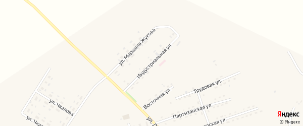 Индустриальная улица на карте села Среднебелой с номерами домов