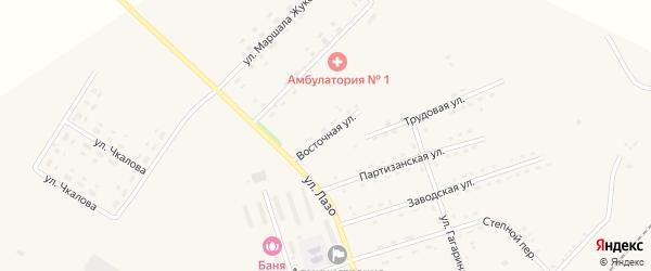 Восточная улица на карте села Среднебелой с номерами домов