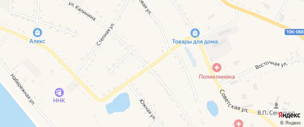 Шоссейная улица на карте села Константиновки с номерами домов
