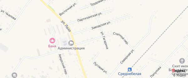 Улица Герки-Рулева на карте села Среднебелой с номерами домов