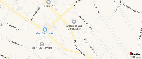 Пионерская улица на карте села Ивановки с номерами домов