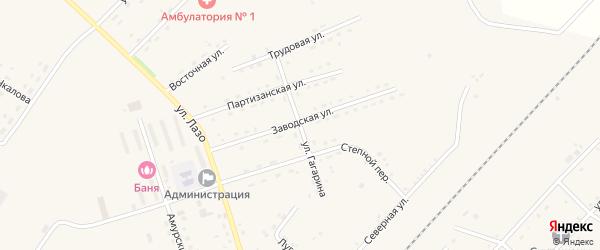 Улица Гагарина на карте села Среднебелой с номерами домов