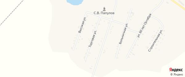 Торговая улица на карте села Среднебелой с номерами домов