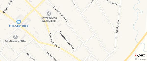 Строительная улица на карте села Ивановки с номерами домов