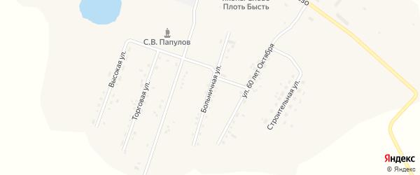 Больничная улица на карте села Среднебелой с номерами домов