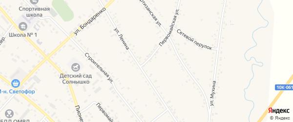 Первомайская улица на карте села Ивановки с номерами домов