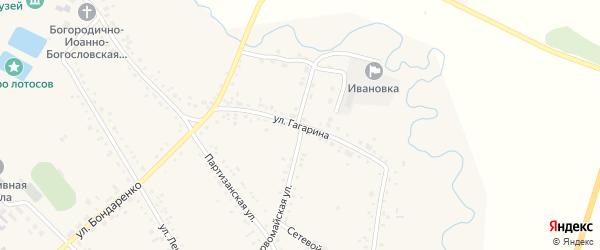 Улица Гагарина на карте села Ивановки с номерами домов