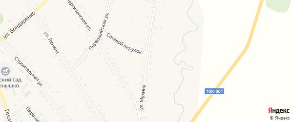 Улица Мухина на карте села Ивановки с номерами домов