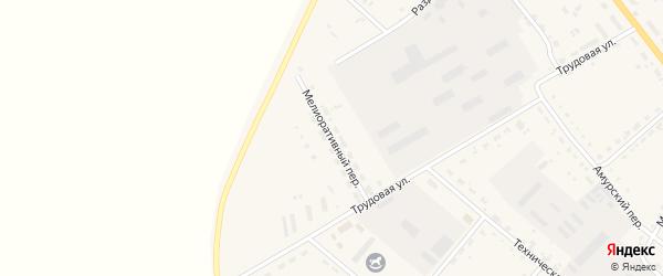 Мелиоративный переулок на карте села Тамбовки с номерами домов