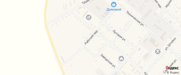 Рабочий переулок на карте села Тамбовки с номерами домов