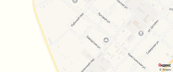 Заводская улица на карте села Тамбовки с номерами домов