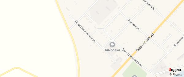 Подстанционная улица на карте села Тамбовки с номерами домов