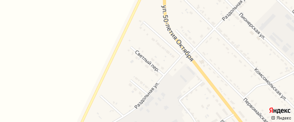 Светлый переулок на карте села Тамбовки с номерами домов