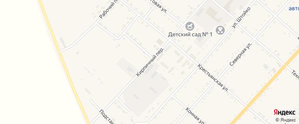 Кирпичный переулок на карте села Тамбовки с номерами домов