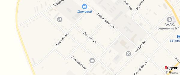 Луговая улица на карте села Тамбовки с номерами домов